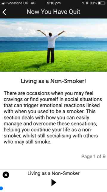 Quit Smoking NOW App Now You Have Quit