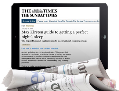 Max Kirsten's Guide To Getting A Better Night's Sleep - The Times